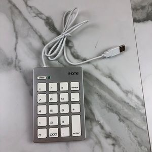 iHome Wired USB Numeric Key Pad For Apple Mac